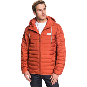 Quiksilver Scaly Capuchon Jas Heren, burnt brick